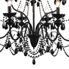 "Picture of 38"" 9 Light Up Chandelier with Black finish"