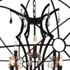 "Picture of 38"" 9 Light Up Chandelier with Brown finish"