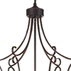 "Picture of 38"" 9 Light Up Chandelier with Rubbed Brown finish"