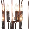 """Picture of 38"""" 9 Light Up Chandelier with Rubbed Brown finish"""