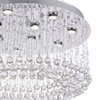 """Picture of 39"""" 12 Light  Flush Mount with Chrome finish"""