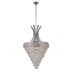"""39"""" 13 Light  Chandelier with Chrome finish"""