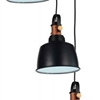 "Picture of 39"" 3 Light Down Pendant with Black finish"