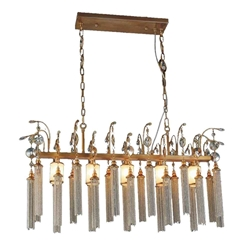 """39"""" 5 Light Down Chandelier with French Gold finish"""