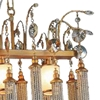 "Picture of 39"" 5 Light Down Chandelier with French Gold finish"