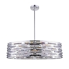 "Picture of 39"" 8 Light Drum Shade Island Light with Chrome finish"