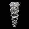 """Picture of 39"""" Double Spiral Modern Foyer Crystal Round Chandelier Mirror Stainless Steel Base 5 Lights"""