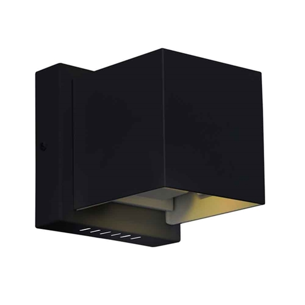 "Picture of 4"" LED Wall Sconce with Black Finish"