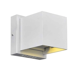 """4"""" LED Wall Sconce with White Finish"""