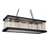 """Picture of 40"""" 10 Light  Chandelier with Black finish"""