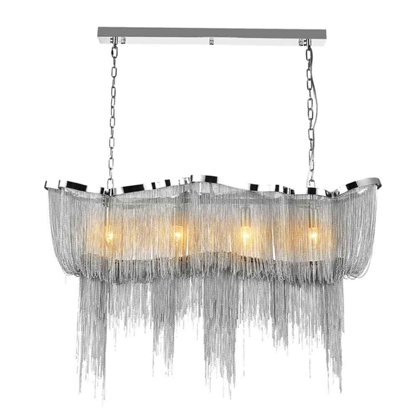 """Picture of 40"""" 11 Light Down Chandelier with Chrome finish"""