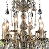 "Picture of 40"" 12 Light Up Chandelier with Antique Brass finish"
