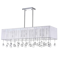 "40"" 14 Light Drum Shade Chandelier with Chrome finish"