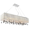 "Picture of 40"" 14 Light Drum Shade Chandelier with Chrome finish"