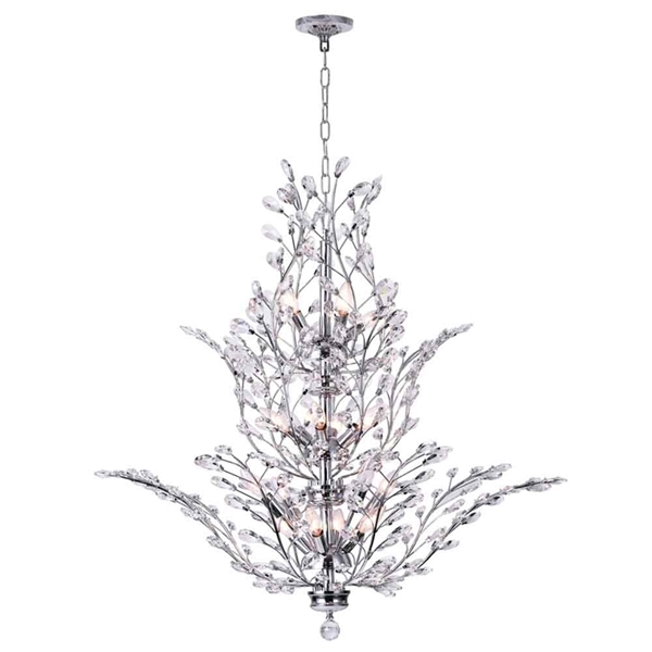 "Picture of 40"" 18 Light  Chandelier with Chrome finish"
