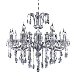 """40"""" 18 Light Up Chandelier with Chrome finish"""