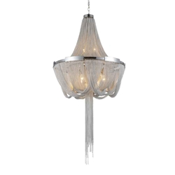 """40"""" 6 Light Down Chandelier with Chrome finish"""