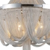 """Picture of 40"""" 6 Light Down Chandelier with Chrome finish"""