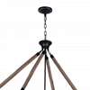 "Picture of 40"" 6 Light Island Chandelier with Antique Black finish"