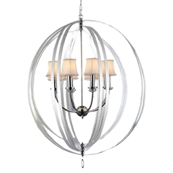 """40"""" 6 Light Up Chandelier with Chrome finish"""