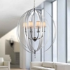 """Picture of 40"""" 6 Light Up Chandelier with Chrome finish"""