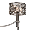 """Picture of 40"""" 6 Light Up Chandelier with Satin Nickel finish"""