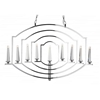 """Picture of 40"""" 9 Light Up Chandelier with Chrome finish"""