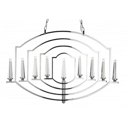 """40"""" 9 Light Up Chandelier with Chrome finish"""
