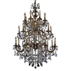 "Picture of 40"" Imperatore Traditional Crystal Candle Round Chandelier Antique Brass 24 Lights"
