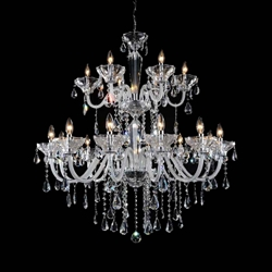 "41"" 18 Light Up Chandelier with Chrome finish"