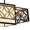 """Picture of 41"""" 4 Light Drum Shade Chandelier with Golden Line Bronze finish"""