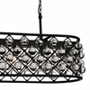 "Picture of 41"" 6 Light  Chandelier with Black finish"