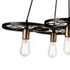 "Picture of 41"" 6 Light Down Chandelier with Black & Gold finish"