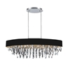 """Picture of 41"""" 8 Light Drum Shade Chandelier with Chrome finish"""