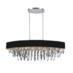 """41"""" 8 Light Drum Shade Chandelier with Chrome finish"""