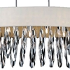 "Picture of 41"" 8 Light Drum Shade Chandelier with Chrome finish"