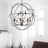 """Picture of 42"""" 12 Light Up Chandelier with Brown finish"""