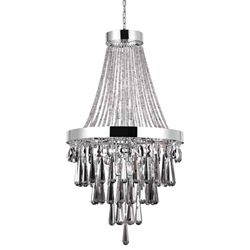 "42"" 13 Light Down Chandelier with Chrome finish"