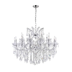 "42"" 25 Light Up Chandelier with Chrome finish"