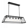 """Picture of 42"""" 6 Light Down Chandelier with Black finish"""