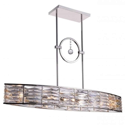"42"" 6 Light Island Chandelier with Bright Nickel finish"