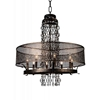 "Picture of 42"" 8 Light Up Chandelier with Golden Bronze finish"