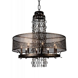 "42"" 8 Light Up Chandelier with Golden Bronze finish"