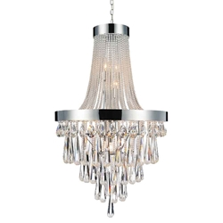 "42"" Liberale Modern Crystal Large Foyer Round Chandelier Polished Chrome 13 Lights"