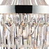 """Picture of 42"""" Liberale Modern Crystal Large Foyer Round Chandelier Polished Chrome 13 Lights"""