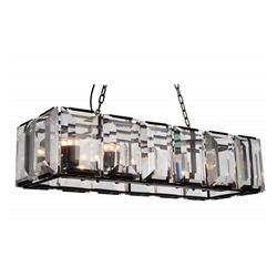 """43"""" 12 Light  Chandelier with Black finish"""
