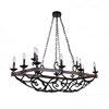 "Picture of 43"" 12 Light Candle Island Light with Gun Metal finish"