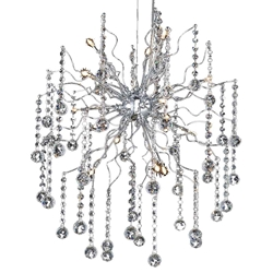 """43"""" 15 Light  Chandelier with Chrome finish"""