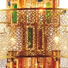 """Picture of 43"""" 15 Light Drum Shade Chandelier with Gold finish"""
