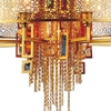 "Picture of 43"" 15 Light Drum Shade Chandelier with Gold finish"